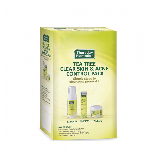 Thursday Plantation Clear Skin And Acne Control Pack