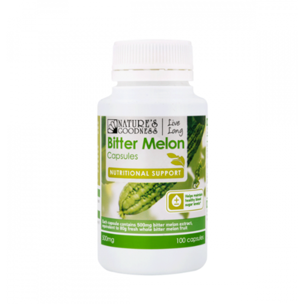 Natures Goodness Bitter Melon 500mg 100 capsules
