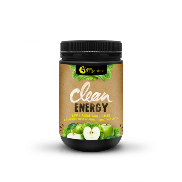 NutraOrganics Clean Energy Apple Plus Mint Powder 150g