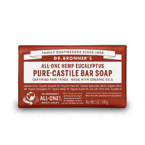 Dr Bronners Eucalyptus Magic Bar Soap 140g