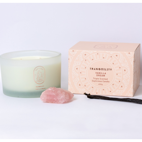 Distillery Fragrance House Soy Candle Tranquility (Vanilla Dream) 450g